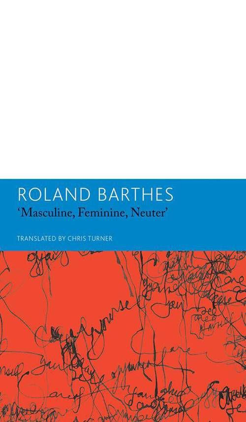 'Masculine Feminine. Neuter' and Other Writings on Literature-Books-sanapalas