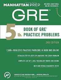 5 lb. Book of GRE Practice Problems (Manhattan Prep GRE Strategy Guides) Paperback – 2 Jun 2015-Books-sanapalas