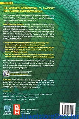 Basic Engineering Plasticity: An Introduction with Engineering and Manufacturing Applications-sanapalas