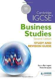 Cambridge IGCSE Business Studies Study and Revision Guide 2nd edition Paperback – Import 25 Dec 2015-Books-sanapalas