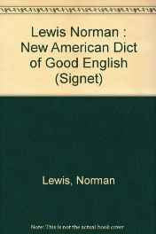Dictionary of Good English The New American (Signet) Mass Market Paperback – Import 1 Dec 1987-sanapalas