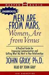 Men are From Mars Women are From Venus Audio Cassette – Audiobook Unabridged Import-Books-sanapalas