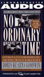 No Ordinary Time: Franklin and Eleanor Roosevelt The Home Front in World War II Audio Cassette – Abridged Audiobook Import-sanapalas