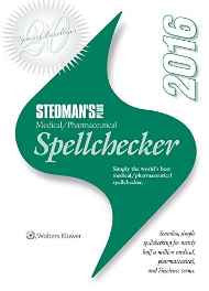 Stedman's Plus 2016 Medical/Pharmaceutical Spellchecker (Standard) CD-ROM – Import 1 Feb 2016-sanapalas