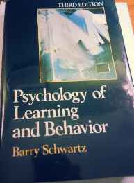 Schwartz: Psychology Of Learning & *behaviour* 3ed (cloth) Hardcover – Import 8 Mar 1989 sanapalas