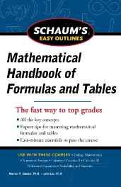 Schaum's Easy Outline of Mathematical Handbook of Formulas and Tables Revised Edition (Schaum's Easy Outlines) Paperback – 1 Jan 2012-sanapalas