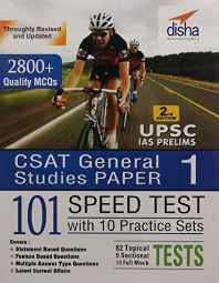 CSAT General Studies Paper 1 (IAS Prelims) 101 Speed Tests Practice Workbook with 10 Practice Sets Paperback – 2016-Books-sanapalas