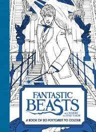 Fantastic Beasts and Where to Find Them: A Book of 20 Postcards to Colour Paperback – 7 Dec 2016-sanapalas