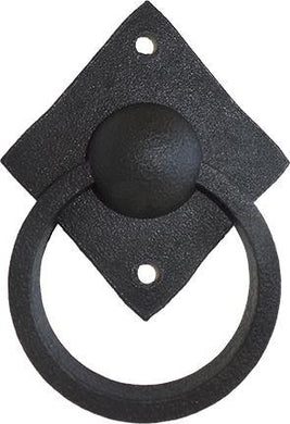 False Knocker Ball - Black Aluminium Flanges - Pipe Furniture One Stop Shop