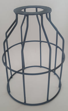 Industrial lamp cage only - black - Aluminium Flanges