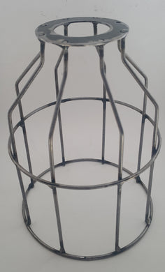 Industrial lamp cage only - non coated - Aluminium Flanges