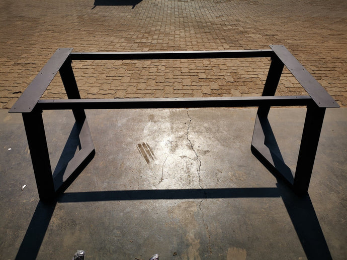Steel Table Frame 1800 (L) x900 (W) x 730 (H)mm Aluminium Flanges - Pipe Furniture One Stop Shop