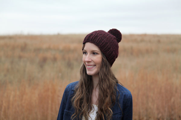 Classic Chunky Knit Beanie in Spice
