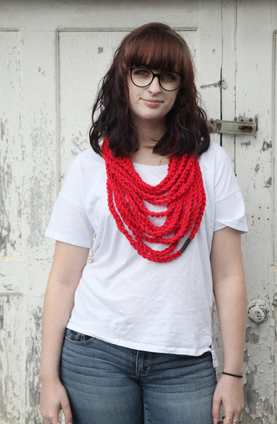 Chain Scarf | The Nicky Necklace in Vibrant Red