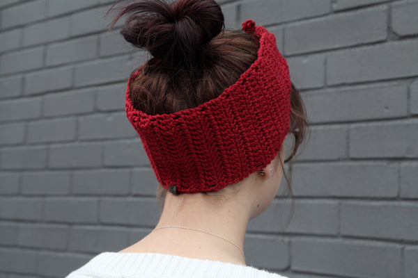 Cotton Head Wrap in Red