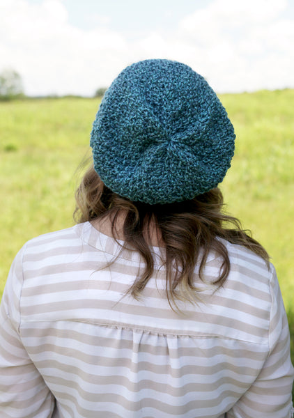 Textured Slouchy Knit Beanie | The Wanderlust Beanie in Sky Blue