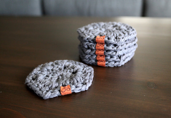 Hexagon Coasters in Dark Gray | Set of 6