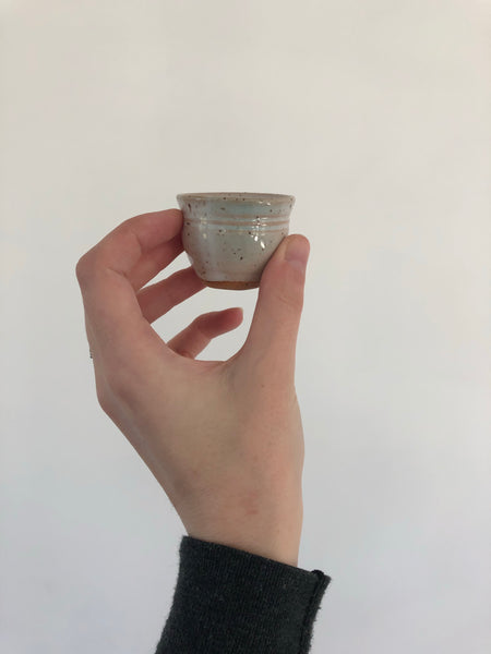 Shot glass | Speckled White