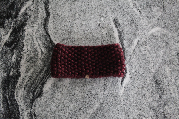 Chunky Ear Warmer in Wine