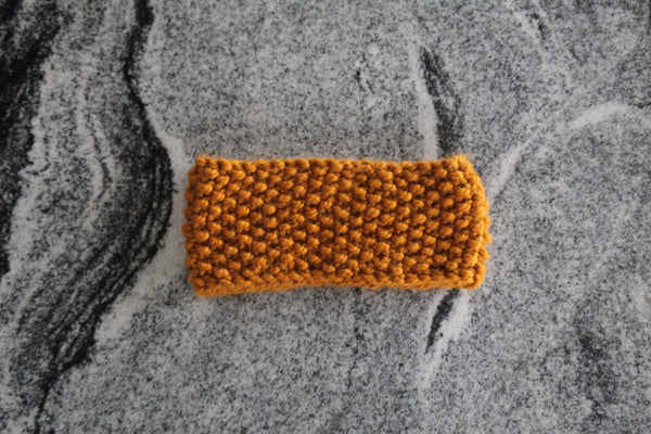 Chunky Ear Warmer in Butterscotch