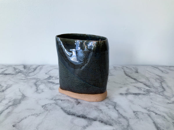 BLEMISHED Sculptural Vase | Blue