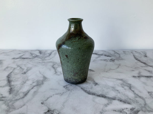 Decorative Raku Vase | Green