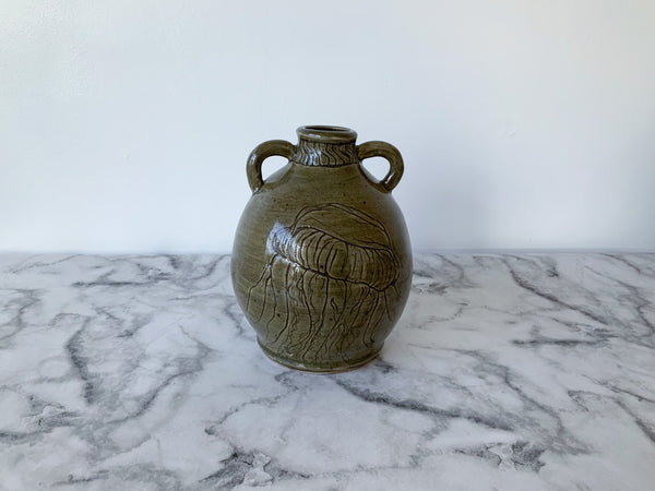 Jellyfish Sgraffito Jar