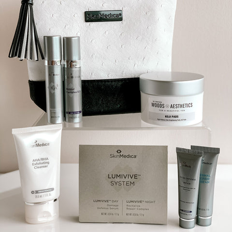 Koji Pads with SkinMedica Travel Bag & Products