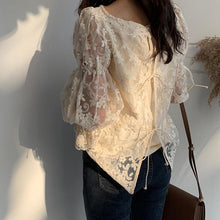 VESEY PUFF SLEEVE LACE TOP