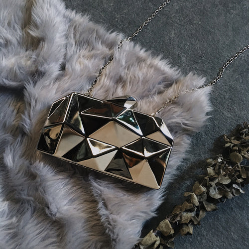 JORDAN GEOMETRIC METAL CLUTCH