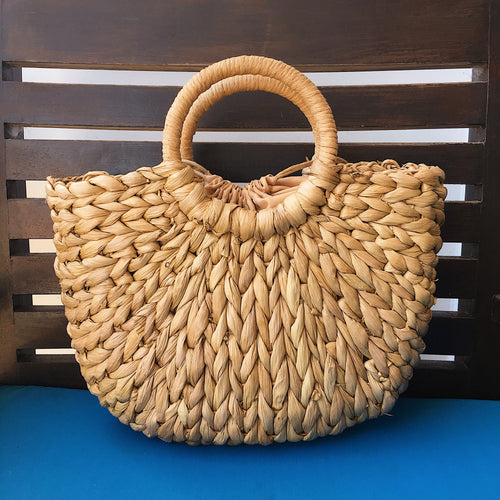 MANTEROLA HALF MOON BASKET BAG