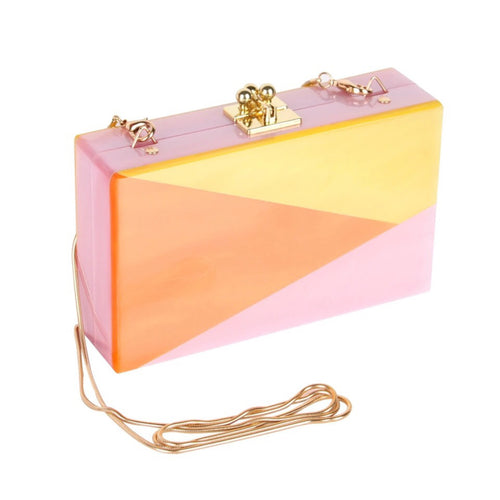 ROSS COLOR BLOCK ACRYLIC BAG