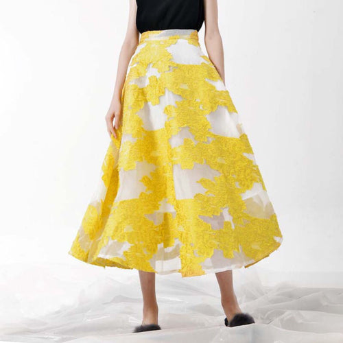 QUINTARA EMBROIDERED SKIRT