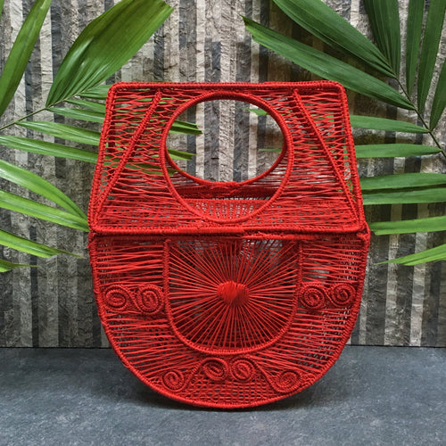 MEDIA LUNA WOVEN BAG
