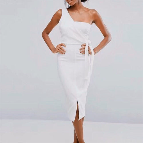 CAMERO ONE SHOULDER DRESS