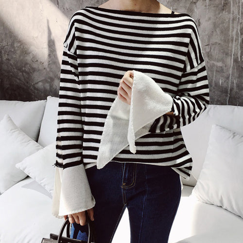 KEAP STRIPED KNIT TOP