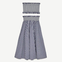 NYES GINGHAM TUBE TOP & SKIRT SET