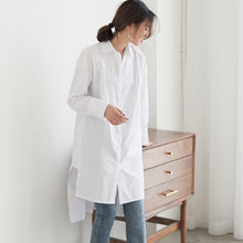 PIKE ASYMMETRIC HEM SHIRT