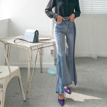 BANKS ASYMMETRIC FLARED JEANS