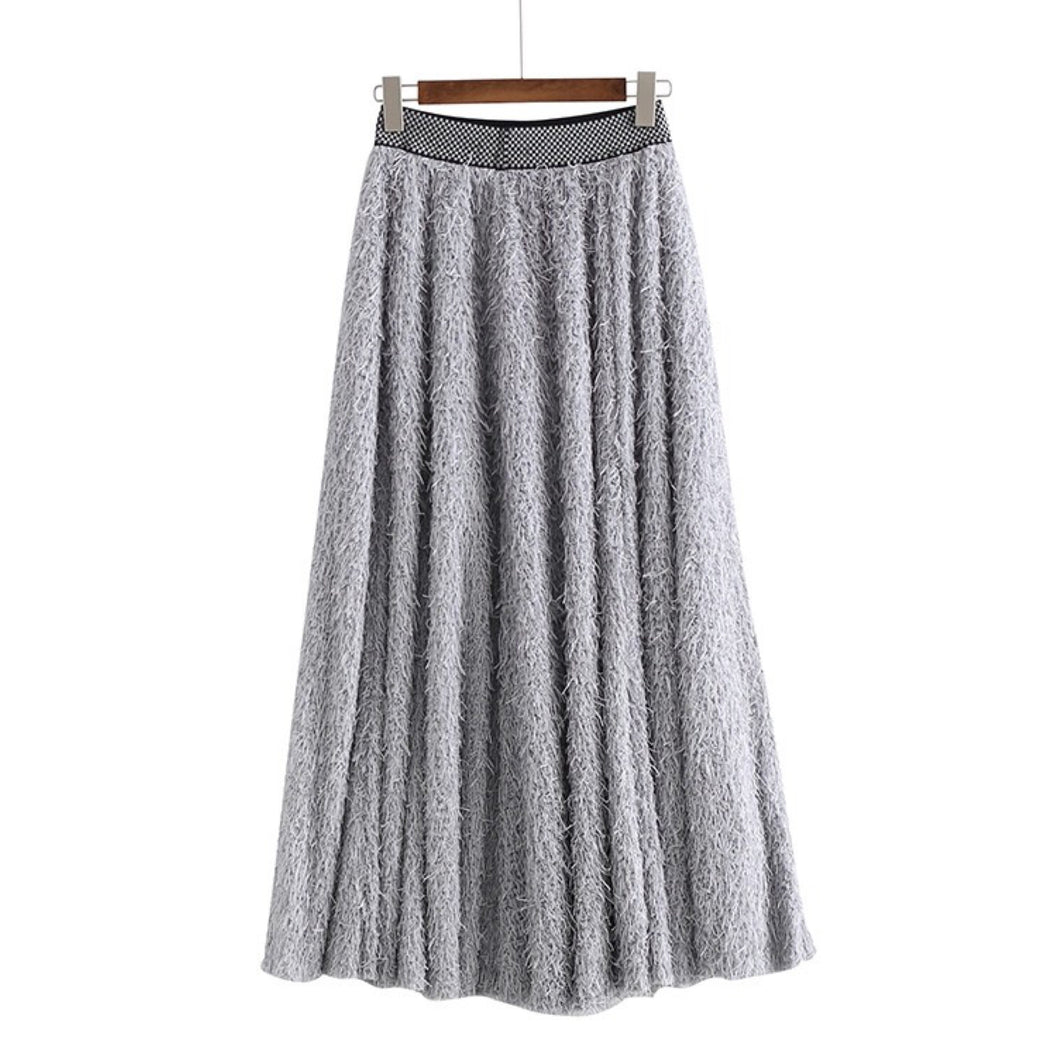 BERENDO FRINGED MAXI SKIRT