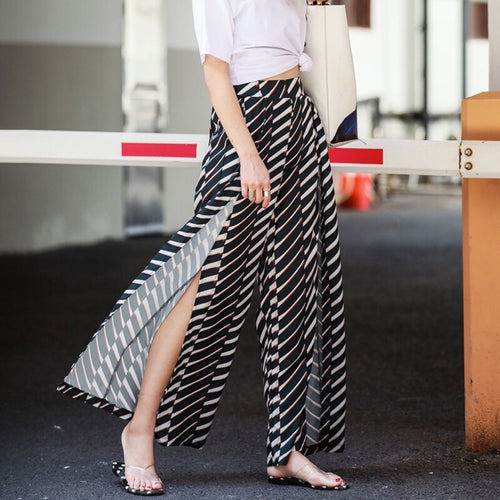 HOFFMAN WIDE LEG SLIT PANTS