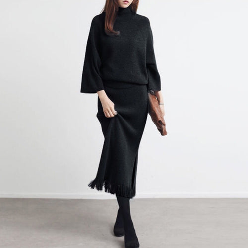 SAVOIE KNIT TOP AND SKIRT SET