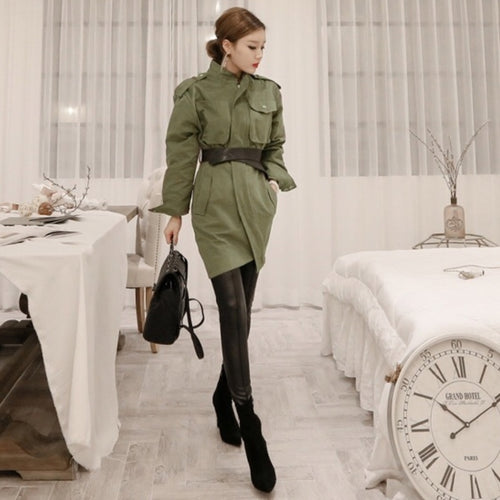 NEALE SHORT TRENCH COAT