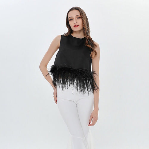 CARVILLE FEATHER TOP