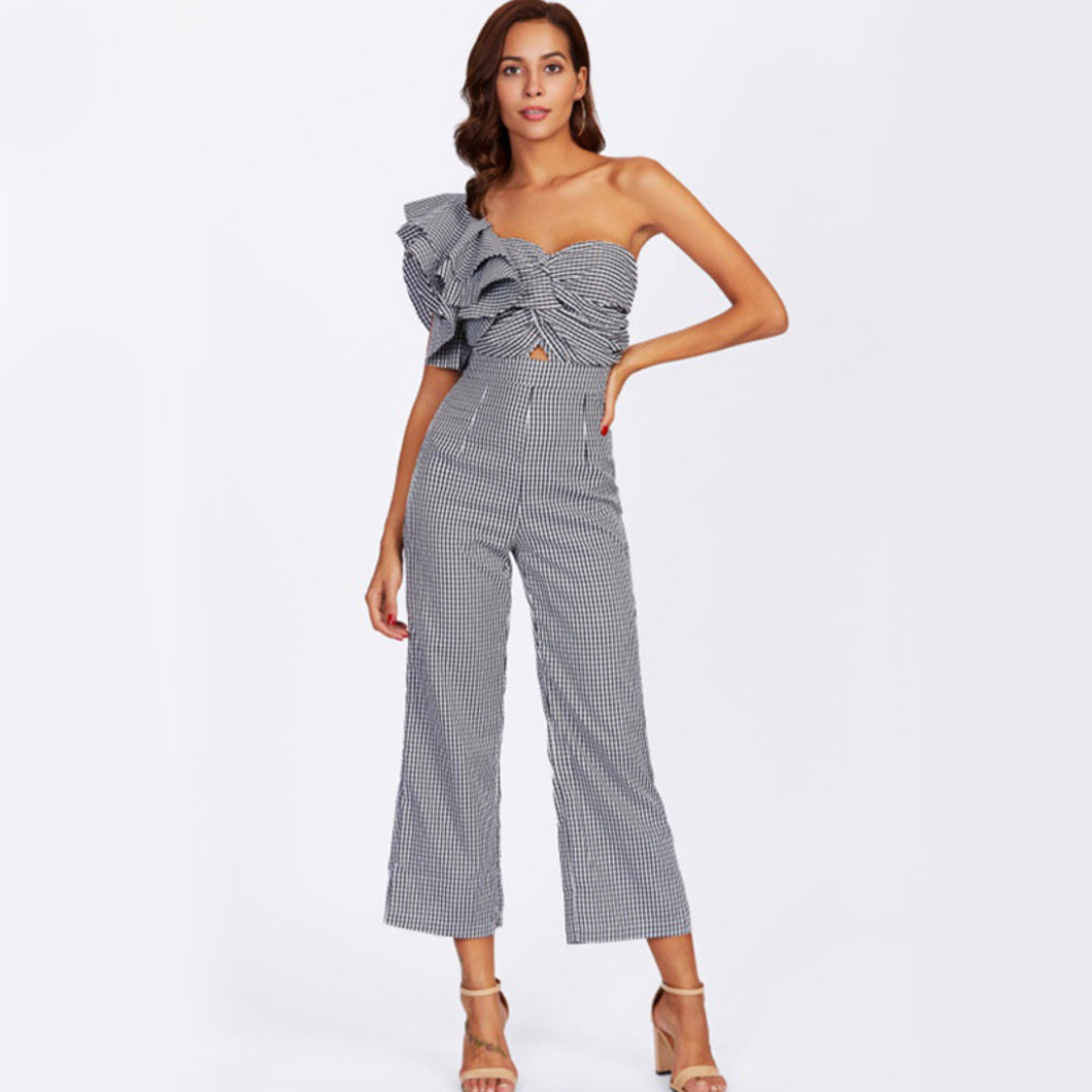 ZICAVO ONE-SHOULDER JUMPSUIT