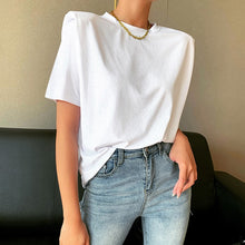 BRIE PADDED SHOULDER T-SHIRT