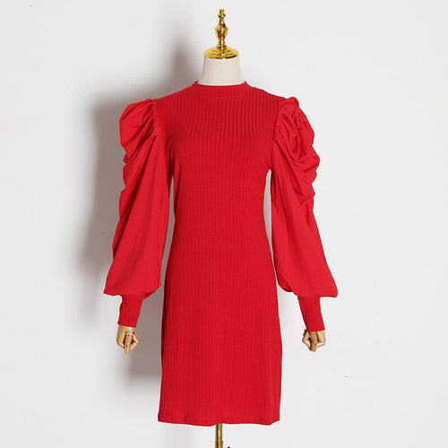 CHATEL PUFF SLEEVE DRESS