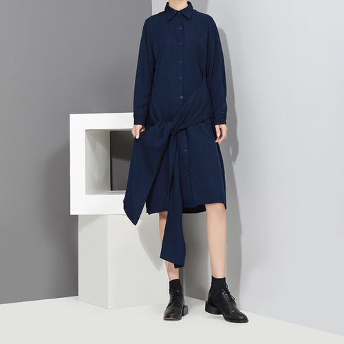ILANA TIE WAIST SHIRT DRESS
