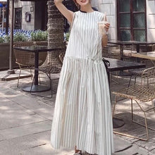 FAVRE STRIPE MIDI DRESS