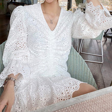 AUDRA EYELET MINI DRESS